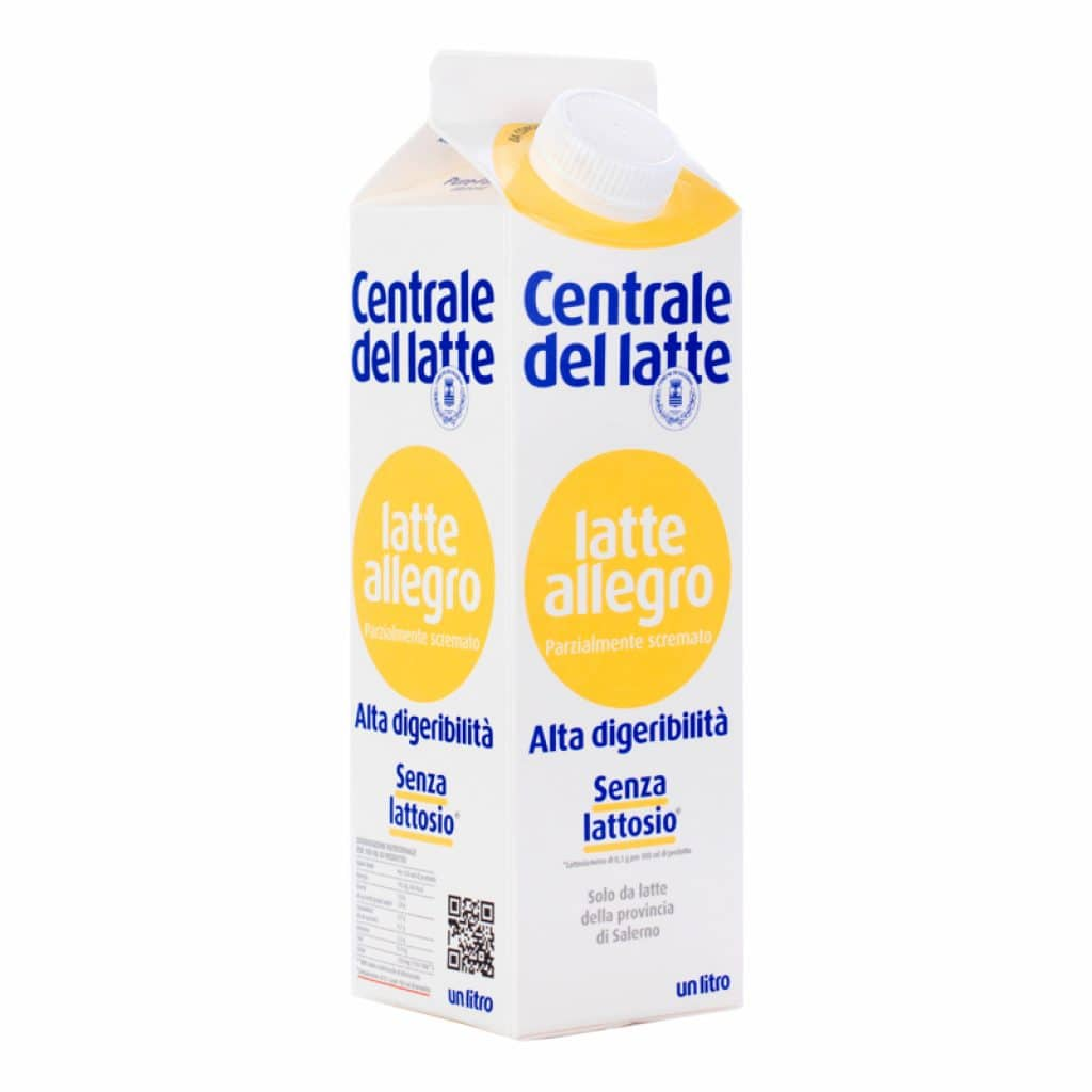 Latte Allegro – Parzialmente scremato – Alta Digeribilità – Senza lattosio 1 L